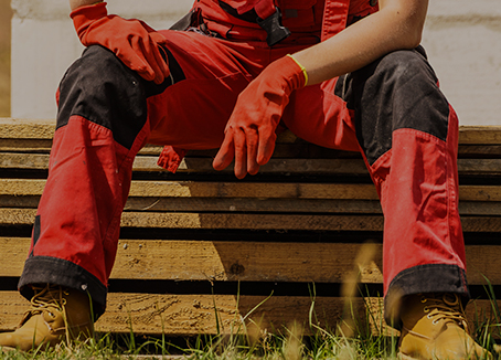 red worker trousers