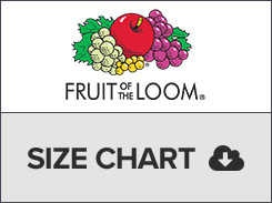 Fruit of the loom size chart