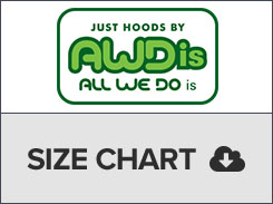 just hoods size chart